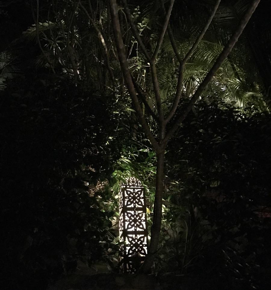 Rustic lighting gardens