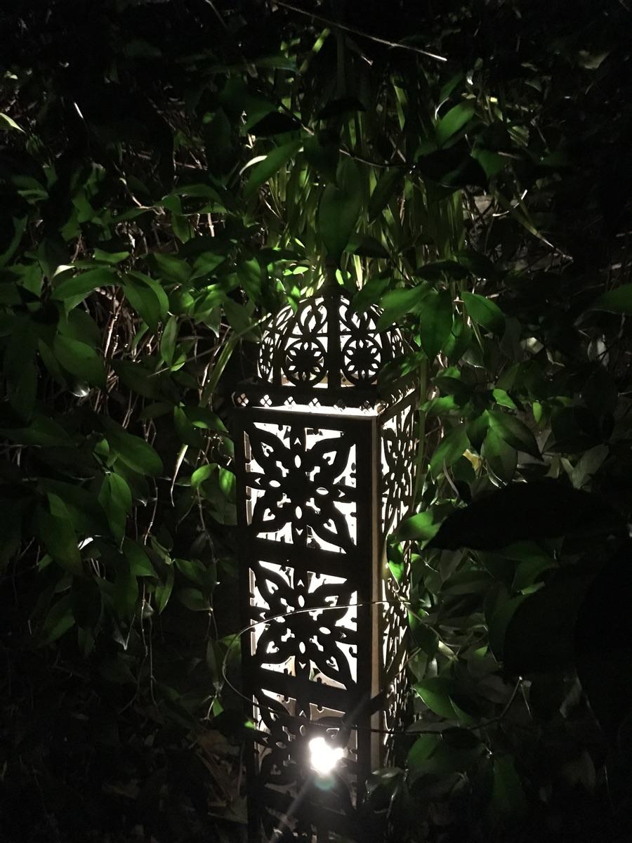 Rustic lighting garden landscaping