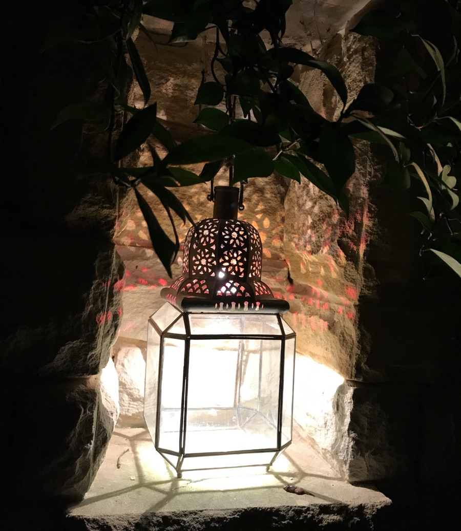 rustic lighting sandstone outdoor