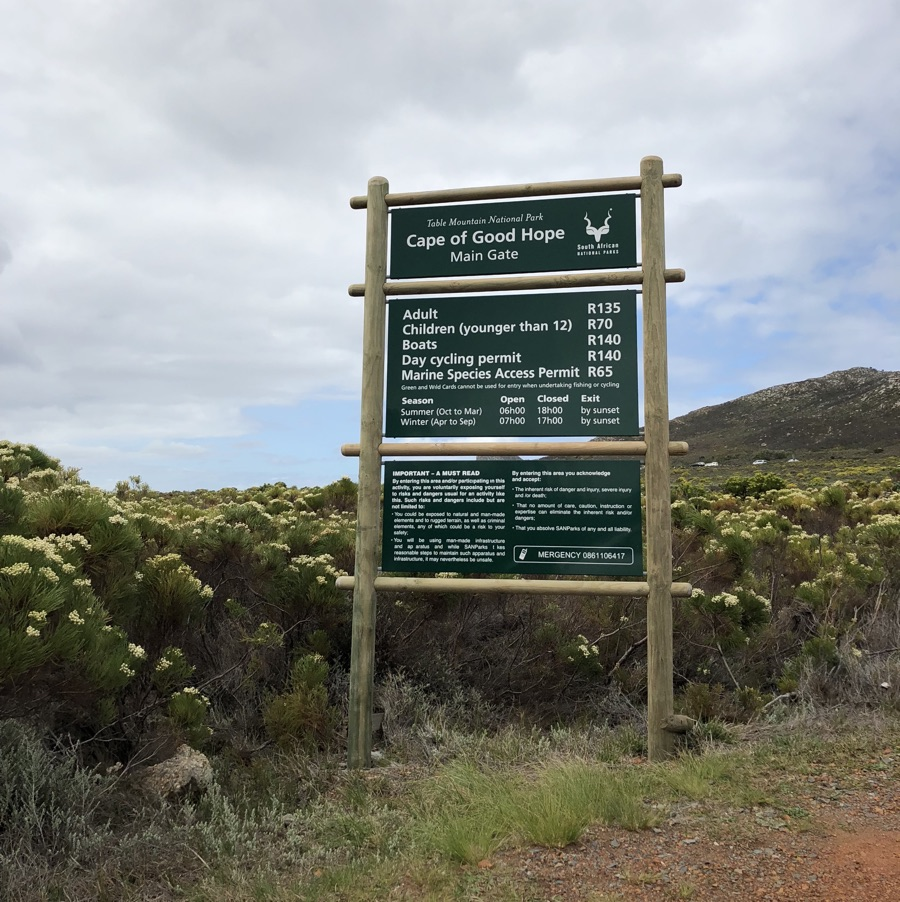 Cape Good Hope South Africa national park stone travel